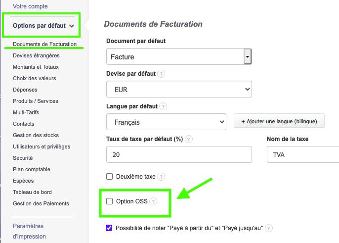TVA Ecommerce Guichet Unique OSS Déclarations Paiements TVA Intracommunautaire Facture