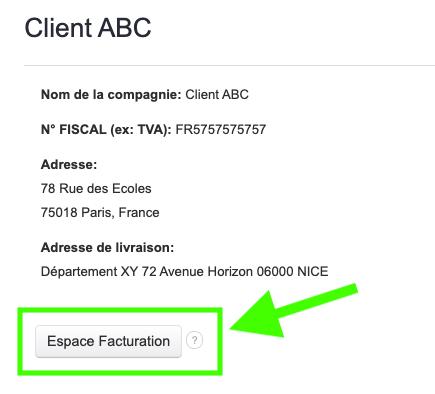 Espace Client Facturation