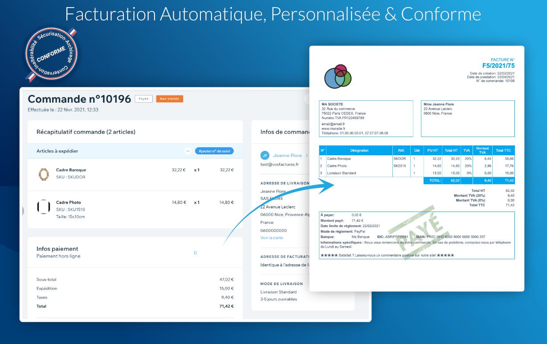 App WIX Facturation Automatique Conforme et personnalisée